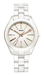 Rado HyperChrome White Dial Stainless Steel and Ceramic Case Ceramic Bracelet Ladies Watch R32323012