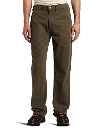 Carhartt Men's  Washed Twill Dungaree Relaxed Fit,Army Green,30 x 30