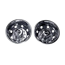 Pacific Dualies 40-3950 19.5″ Stainless Steel Wheel Simulator Rear Tag-Axle Kit for 2006-2010 Chevy GMC Workhorse W42 Truck RV Motorhome