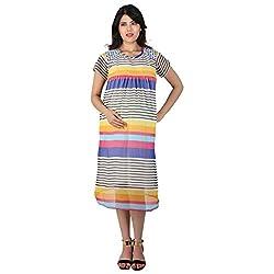 MomToBe Maternity Dress Black and white stripes (mohbwsd1093-l_white_Large