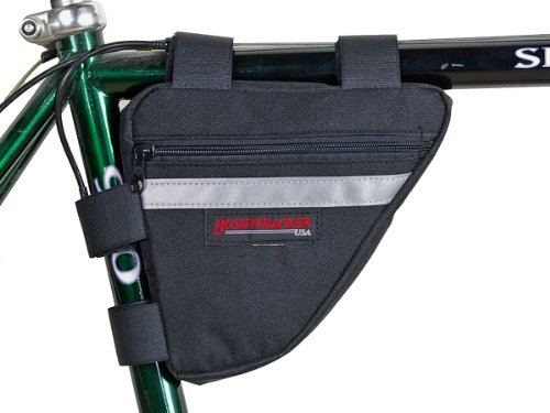Lowest Prices! Bushwhacker Ketchum Black - Bicycle Frame Bag Cycling Triangle Pack Bike Under Seat T...