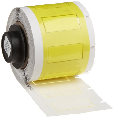 "Brady Psht-250-1-Wt 1.015"" Width X 0.439"" Height, B-345 Polyvinylidene Fluoride, White High Temperature Permasleeve Wire Marker Sleeves (100 Per Roll)"