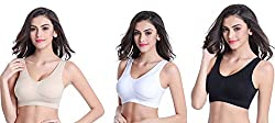 Spangel Fashion Air Sports Bra, Pack of 3(Free Size, Size of 28 to 36)