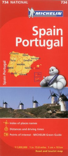 Michelin Spain & Portugal Map 734 (Maps/Country (Michelin))