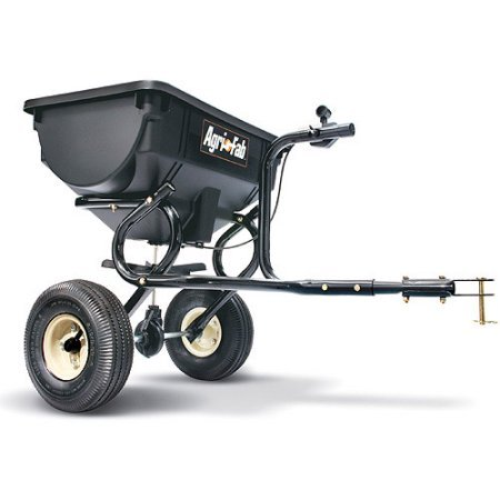 "10"" x 4"" Pneumatic Tires, Tow Broadcast Spreader, Black"