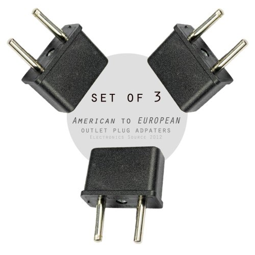 Ckitze Eu-3Pc American/Australian To European Outlet Plug Adapter - Set Of 3