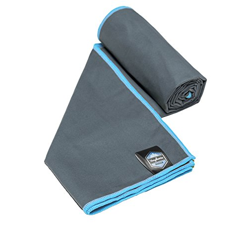 Youphoria Sport Microfiber Travel Towel and Sports Towels (Gray/Blue - 28