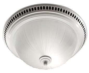 Broan 741wh Decorative Ventilation Fan And Light White Bathroom Fans