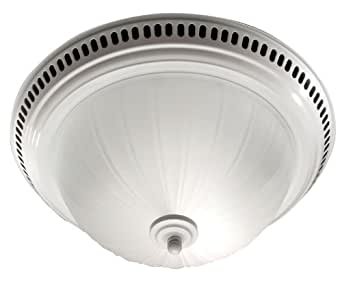 Broan 741wh decorative ventilation fan and light white bathroom fans for Decorative bathroom fan with light
