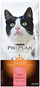Purina Pro Plan Dry Adult Cat Food, Salmon and Rice Formula, 3.5-Pound Bag