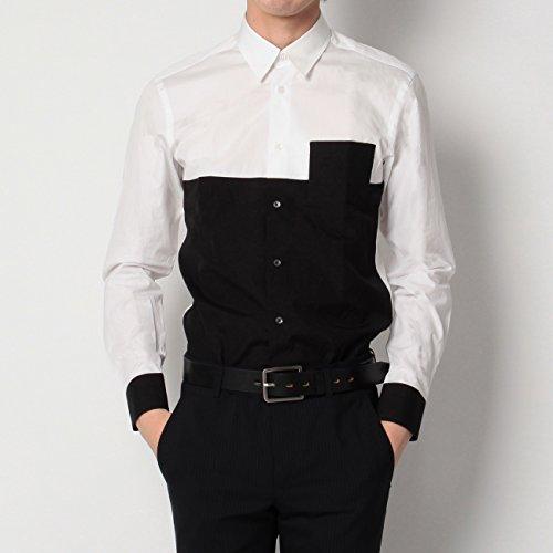 (ボイコット)BOYCOTT 配色デザインコットンシャツ ホワイト(501) 03(L)