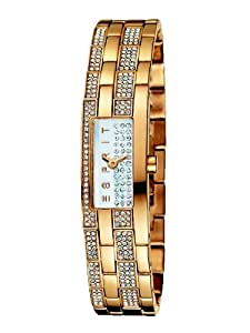 Esprit - ES100782002 - Montre Femme - Quartz Analogique - Cadran Argent - Bracelet Acier plaqué Doré