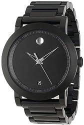 "Movado Men's 0606615 ""Sport Museum"" Black Stainless Steel Watch"