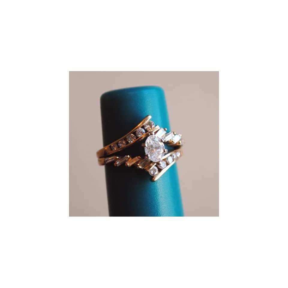 14k Yellow Gold Diamond Wedding Ring
