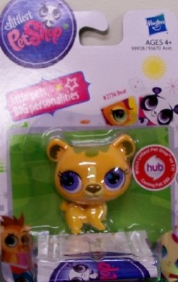 Littlest Pet Shop Single Figure Yellow Bear - 1