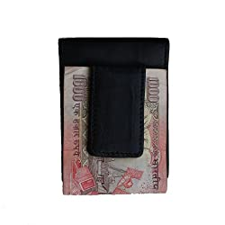 Klaska Black Leather Money Clip