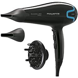 Rowenta Infini Pro Beauty - Secador (Función Ionic, recubrimiento cerámico, 2 velocidades, 3 temperaturas, 2200W) color negro