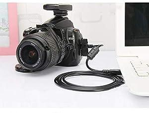 2 Pack Replacement Camera UC-E6, UC-E23, UC-E17 USB Cable Photo Transfer Cord for Nikon Digital Camera SLR DSLR D3300 D750 D5300 D7200 D3200, Coolpix L340 L32 A10 & More by JEDE (Color: Black)