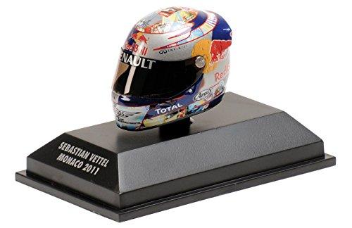 S. Vettel Red Bull GP Monaco Formel 1 Weltmeister 2011 Helm 1:8 Minichamps