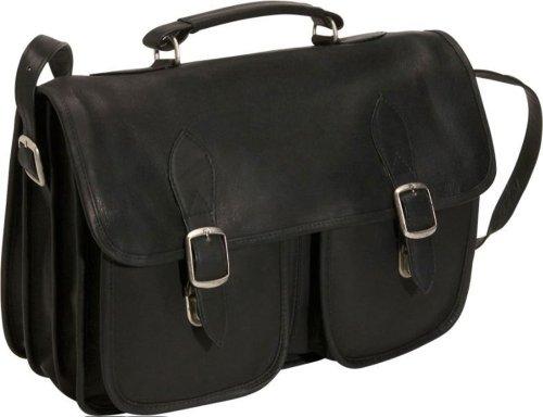 david-king-co-top-handle-flap-over-portfolio-triple-gusset-black-one-size