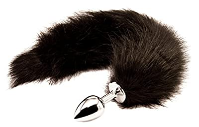 Handsome Cock Black Fox Tail Butt Plug