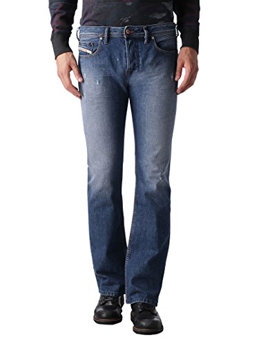 Diesel Uomo Zatiny 0844U Regular Bootcut Jeans, Blu, 31W x 32L