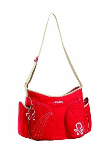 Okiedog Urban Mondo Changing Bag Red front-332009