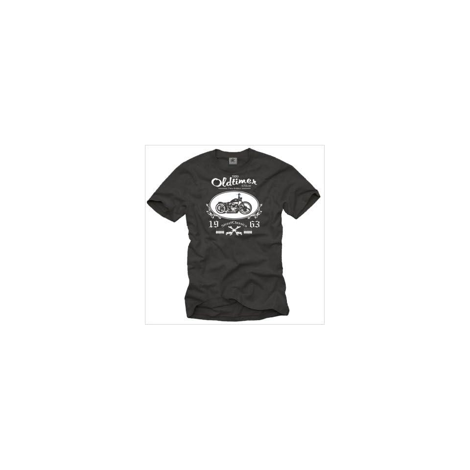 Biker T Shirt für Herren Shirt Farbe schwarz Logo weiß MOTORRAD