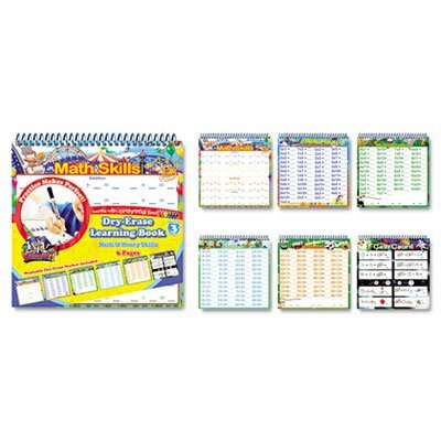 The Board Dudes 11225VA4 Dry-Erase Book, Math, 6 Page, BDU11225VA4