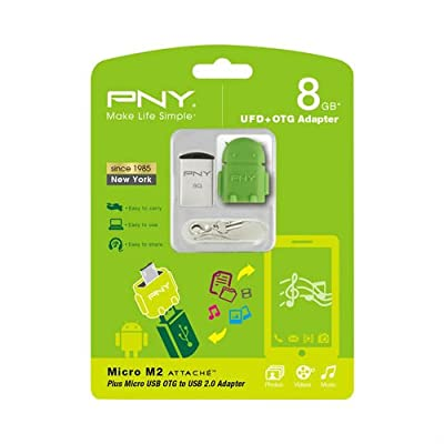 USB Flash Drive PNY Micro M2 Attaché 8GB with OTG Adapter