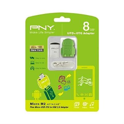 USB Flash Drive PNY Micro M2 Attaché 8GB with OTG Adapter