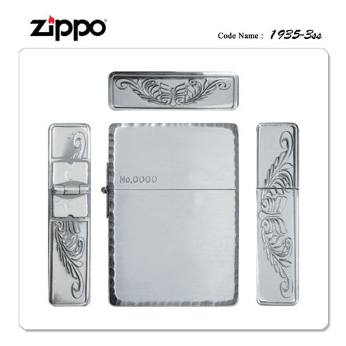 ZIPPO Zippo Zippo lighters in 1935 reprint model 3-sided sculpture シルバーサテーナ 1935P-3SS [gifts / presents / smokers ' requisites]