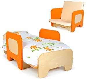 P'kolino Toddler Bed and Chair, Orange