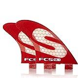 FCS S-25 Medium Simon Anderson Performance Core Surfboard Tri Fin Set - Green/White