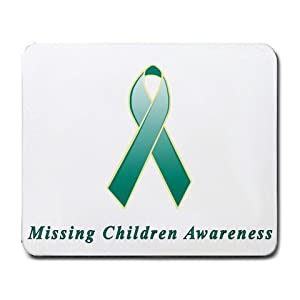 Missing Children Awareness Ribbon Mouse Pad