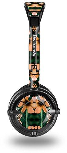 buy Floral Pattern Orange Decal Style Skin Fits Skullcandy Lowrider Headphones (Headphones Sold Separately)