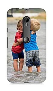 Amez designer printed 3d premium high quality back case cover for Moto G Turbo Edition (Kids love children cool)