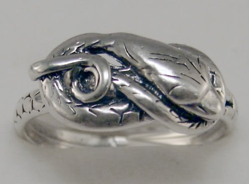 Beautiful Sterling Silver Snake Ring...Made in America