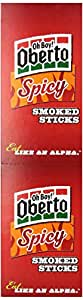Oh Boy! Oberto Spicy Smoked Sticks, 1-Ounce Packages (Pack of 24)