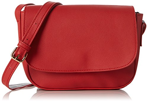 PIECESPCDEENA CROSS BODY - Borsa a tracolla Donna , Rosso (Rot (High Risk Red)), 19x14x4 cm (B x H x T)
