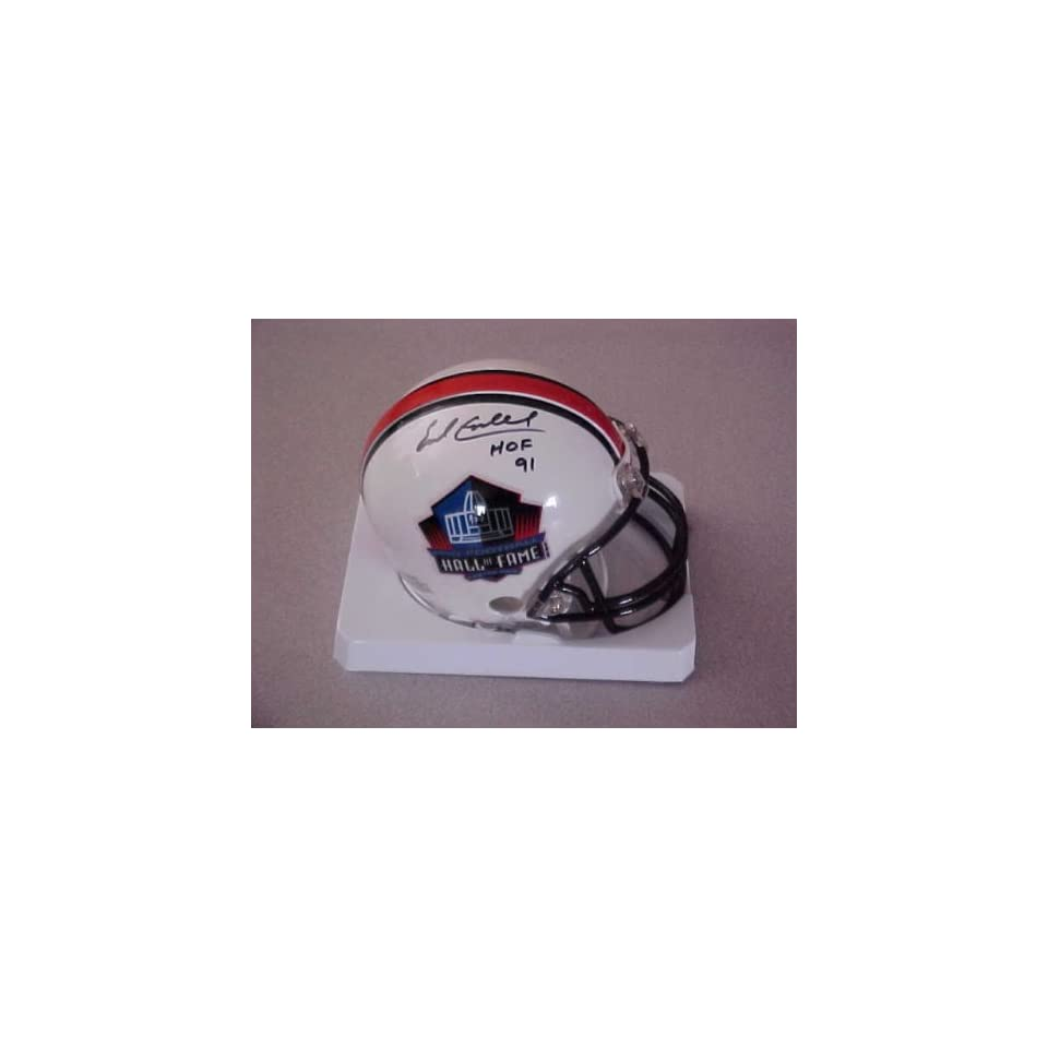 Earl Campbell Hand Signed Autographed Houston Oilers Hall of Fame Mini Helmet
