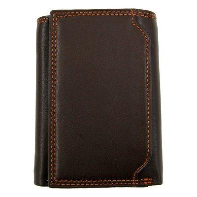 Style n Craft 300790-BR Brown Tri-Fold Wallet