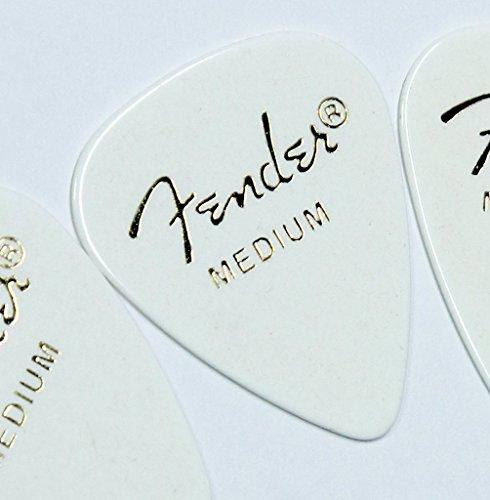 Fender picks × 10 Teardrop MEDIUM-WHT