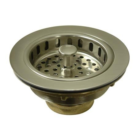 Read About Kingston Brass KBS1008 Cast Brass Heavy Duty Basket Strainer with Removable Strainer, Sat...