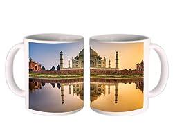 Shopkeeda Taj Mahal Mug (Ceramic Multicolor)