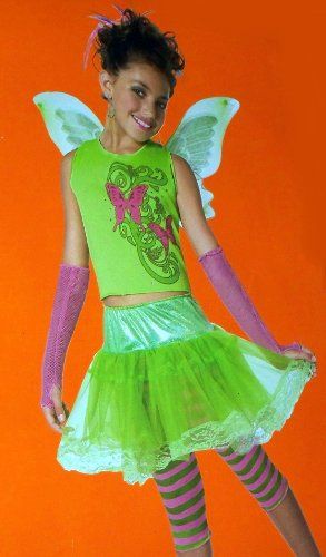 Butterfly Princess Children Girls Dress Up Costume Plus Sizes