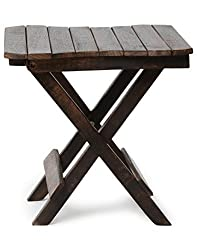 Crafts A to Z Wooden Deautiful Design Folding Table For Living Room Size(LxBxH-12x12x12) Inch