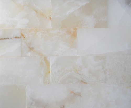 3x6 Pearl White Onyx Subway Brick Polished Tiles for Backsplash, Shower Walls, Bathroom Floors