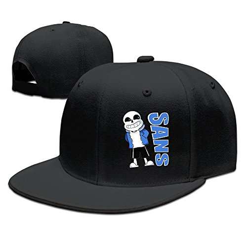 CEDAEI Sans Undertale Role-playing Video Game Flat Bill Snapback Adjustable Visor Caps Hats Black (Cool Video Game Merchandise compare prices)
