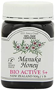Manuka Honey Bio Active 5+, 500g/1 lb Jars (Pack of 2)